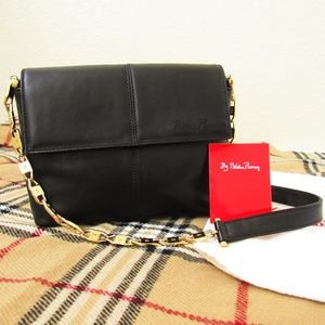 VINTAGE • Paloma Picasso Leather Chain Shoulderbag
